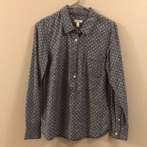 JCREW chambray - polka dots - popover